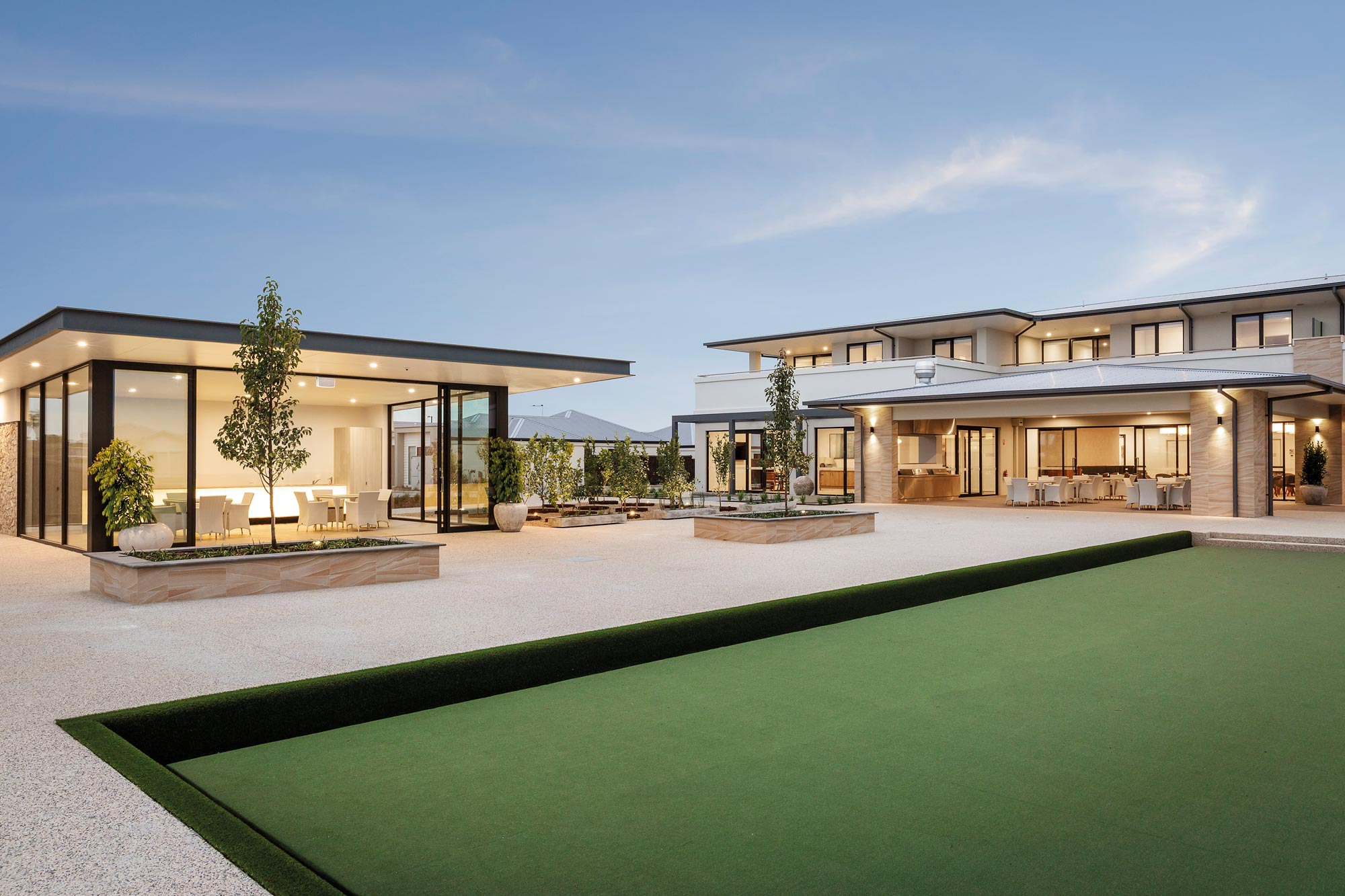 Sencia The Breeze, Point Lonsdale, Waterside Pavilion, Glass Pavilion and bowling green