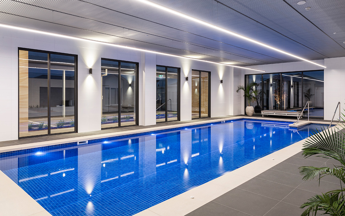 The state of the art indoor pool at The Breeze